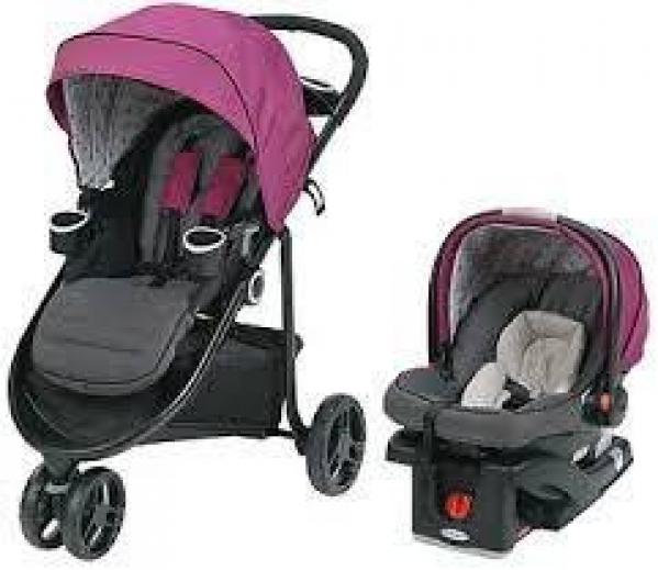 BabyQuip - Baby Equipment Rentals - Travel System (Stroller + Carseat + Base)  - Travel System (Stroller + Carseat + Base)  -