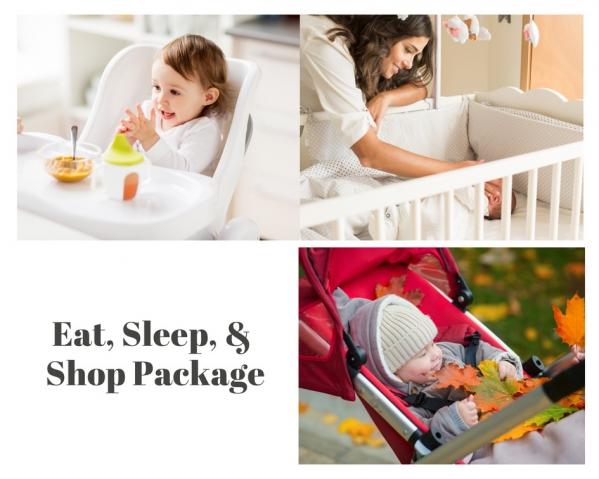 BabyQuip - Baby Equipment Rentals - Eat, Sleep, & Shop Package - Eat, Sleep, & Shop Package -
