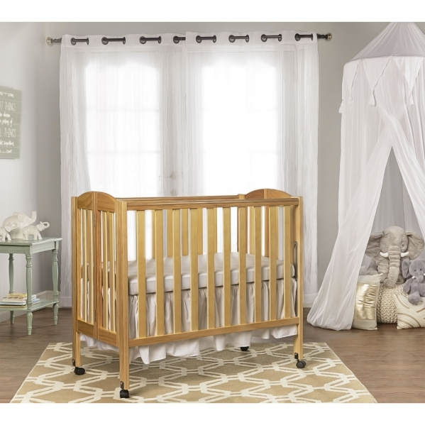 BabyQuip - Baby Equipment Rentals - Portable Beechwood Mini Crib  - Portable Beechwood Mini Crib  -
