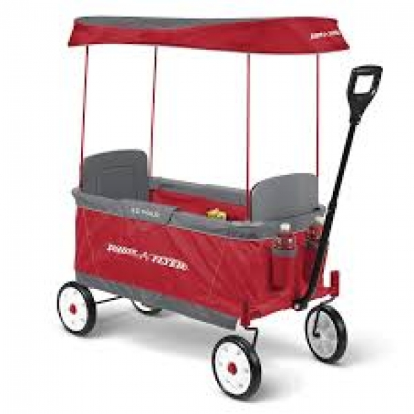 BabyQuip - Baby Equipment Rentals - Fold-able Wagon with Canopy - Fold-able Wagon with Canopy -