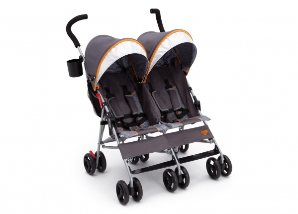 BabyQuip - Baby Equipment Rentals - Delta LX Plus Lightweight Double Stroller - Delta LX Plus Lightweight Double Stroller -