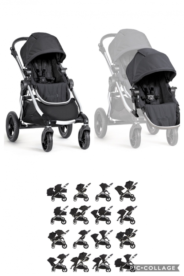 BabyQuip - Baby Equipment Rentals - City Select Single To Double Stroller - City Select Single To Double Stroller -