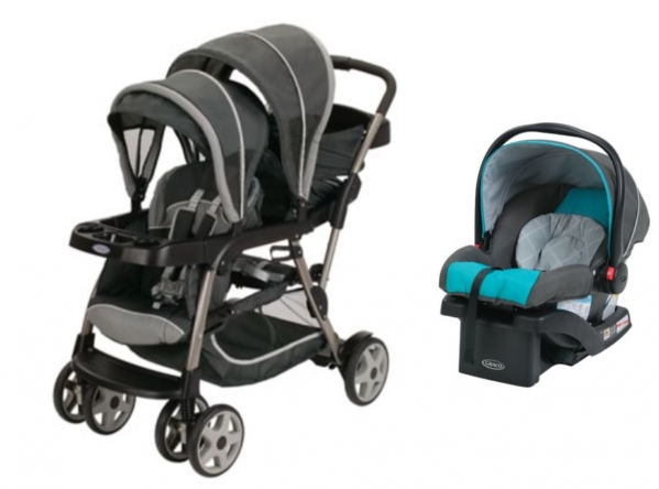 BabyQuip - Baby Equipment Rentals - Double Stroller & Compatible Infant Car Seat - Double Stroller & Compatible Infant Car Seat -