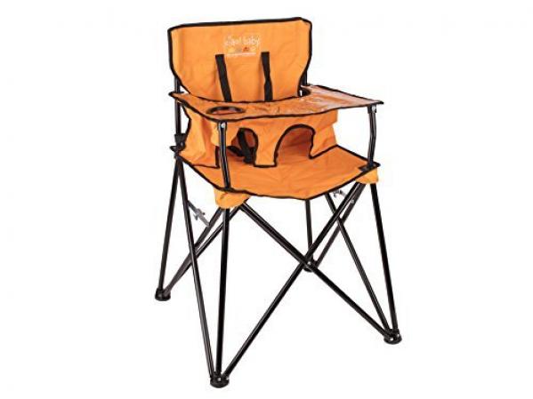 BabyQuip - Baby Equipment Rentals - Portable Bag High Chair Orange - Portable Bag High Chair Orange -