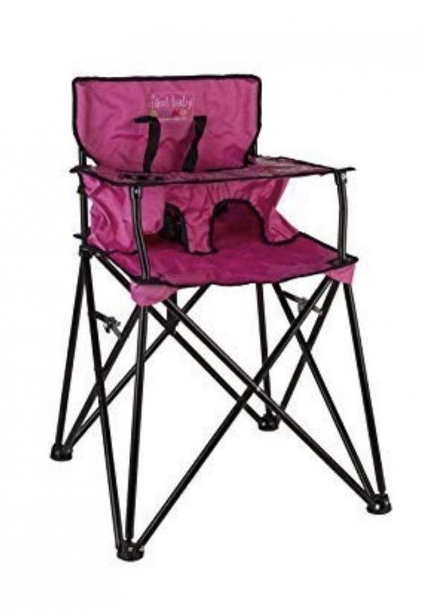 BabyQuip - Baby Equipment Rentals - Portable Bag High Chair Pink - Portable Bag High Chair Pink -