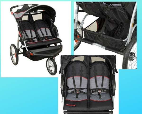 BabyQuip - Baby Equipment Rentals - Expedition Swivel Double Jogger  - Expedition Swivel Double Jogger  -