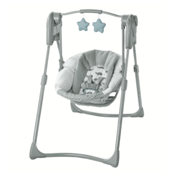 BabyQuip - Baby Equipment Rentals - Graco Slim Spaces Compact Baby Swing - Graco Slim Spaces Compact Baby Swing -