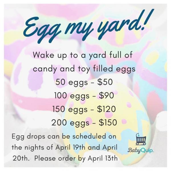 BabyQuip - Baby Equipment Rentals - Egg My Yard- 50 Eggs - Egg My Yard- 50 Eggs -