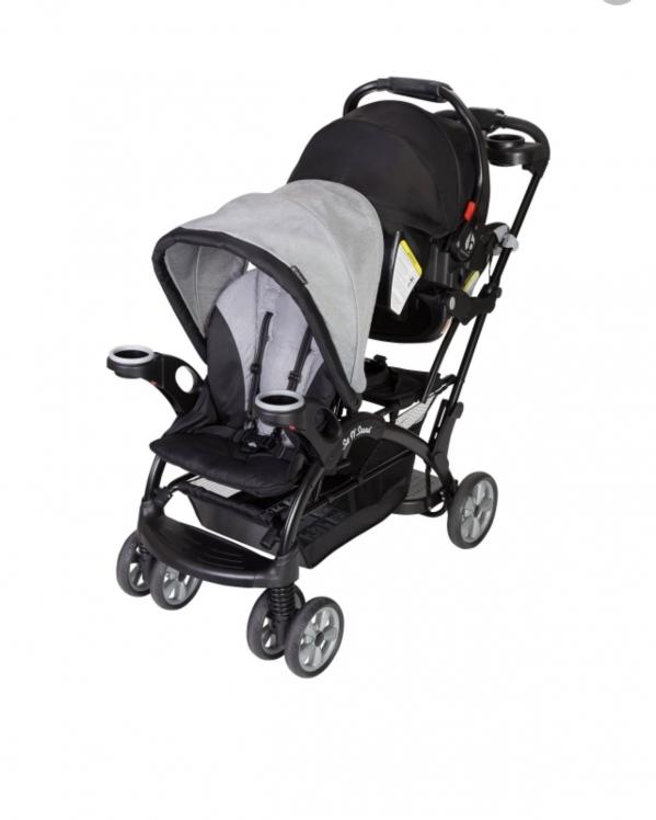 BabyQuip - Baby Equipment Rentals - Sit and Stand Double Stroller - Sit and Stand Double Stroller -