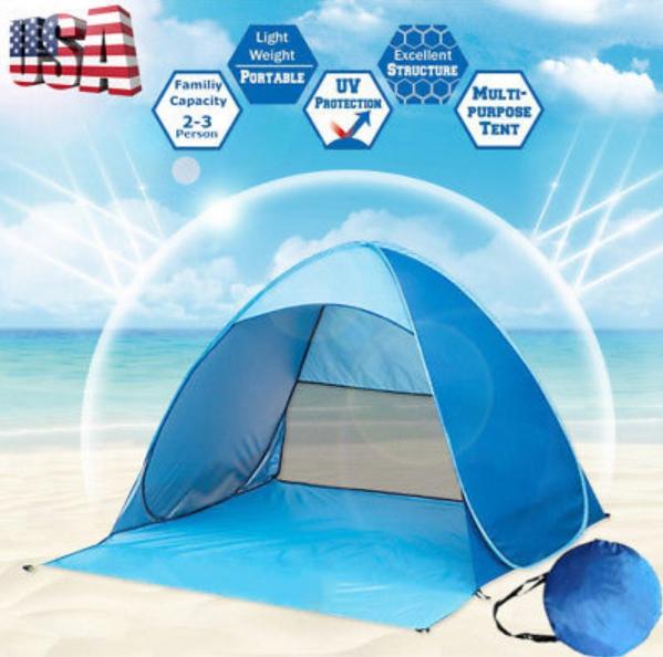 BabyQuip - Baby Equipment Rentals - Portable Pop up Beach Tent - Portable Pop up Beach Tent -