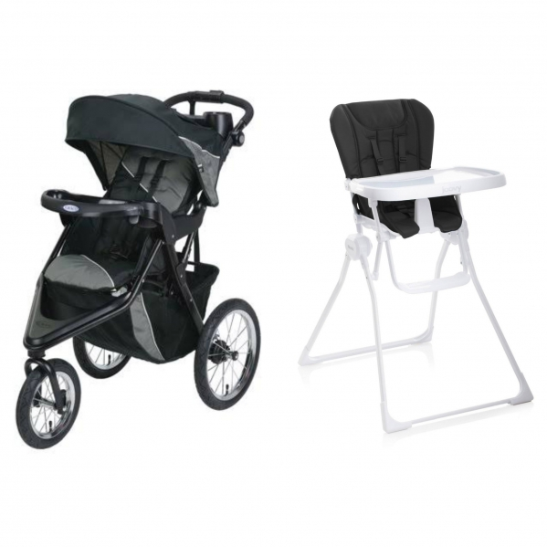 BabyQuip - Baby Equipment Rentals - Full Size High Chair/Jogging Stroller Package - Full Size High Chair/Jogging Stroller Package -