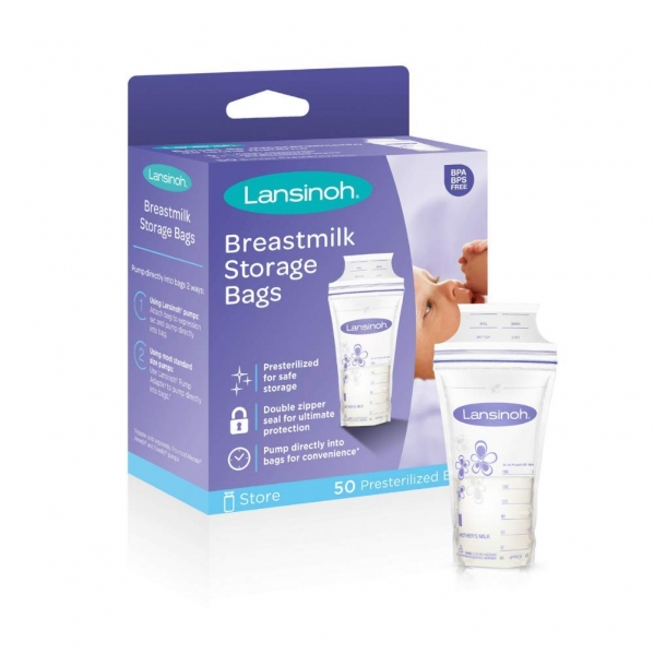 BabyQuip - Baby Equipment Rentals - Lansinoh breastmilk bags storage - Lansinoh breastmilk bags storage -
