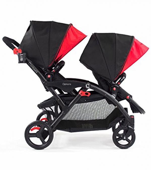 BabyQuip - Baby Equipment Rentals - Contours Options Tandem Double Stroller - Contours Options Tandem Double Stroller -