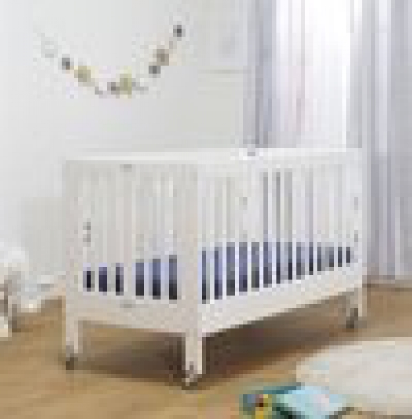 BabyQuip - Baby Equipment Rentals - Orbelle Roxy Full-size Folding Crib with Linens - Orbelle Roxy Full-size Folding Crib with Linens -